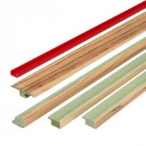 Augusta Pecan 1.06 in. Thick x 1.77 in. Wide x 78 in. Length FasTrim 5-in-1 Laminate Molding-328616 100677206