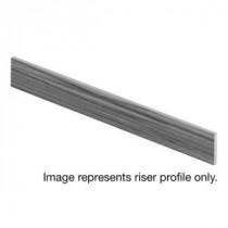 Cap A Tread Gunstock Oak 94 in. Length x 1/2 in. Depth x 7-3/8 in. Height Laminate Riser to be Used with Cap A Tread-017041759 206054287