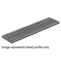 Cap A Tread Natural Oak 94 in. Length x 12-1/8 in. Deep x 1-11/16 in. Height Laminate Left Return to Cover Stairs 1 in. Thick-016241757 206053126