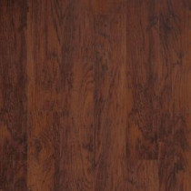 Dark Brown Hickory Laminate Flooring - 5 in. x 7 in. Take Home Sample-CL-306429 206558889