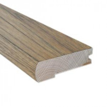 Hickory Sepia 0.81 in. Thick x 2.37 in. Wide x 78 in. Length Hardwood Flush-Mount Stair Nose Molding-LM6499 202745968