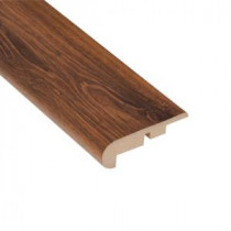Home Legend Santa Cruz Walnut 7/16 in. Thick x 2-1/4 in. Wide x 94 in. Length Laminate Stair Nose Molding-HL1015SN 203332542