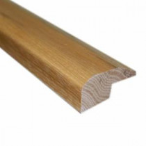 Millstead Natural Vintage Hickory 22/25 in. Thick x 2 in. Wide x 78 in. Length Hardwood Carpet Reducer/Baby T-Molding-LM6227 202808452