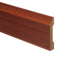 Zamma Brazilian Cherry 9/16 in. Thick x 3-1/4 in. Wide x 94 in. Length Laminate Wall Base Molding-013041532 203286285