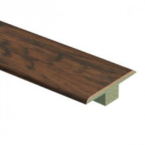 Zamma Coffee Handscraped Hickory 7/16 in. Thick x 1-3/4 in. Wide x 72 in. Length Laminate T-Molding-0137221640 204691644