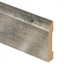 Zamma Cross Sawn Oak Grey 9/16 in. Thick x 3-1/4 in. Wide x 94 in. Length Laminate Base Molding-013041763 206056505