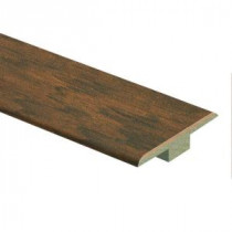 Zamma Dark Brown Hickory 7/16 in. Thick x 1-3/4 in. Wide x 72 in. Length Laminate T-Molding-013221800 206528614