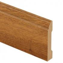 Zamma Gunstock Oak 9/16 in. Thick x 3-1/4 in. Wide x 94 in. Length Laminate Base Molding-013041759 206054869
