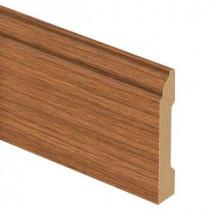 Zamma Gunstock Oak 9/16 in. Thick x 3-1/4 in. Wide x 94 in. Length Laminate Base Molding-013041549 204201837