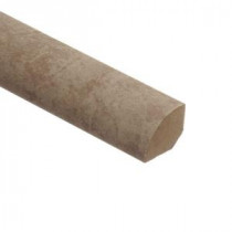 Zamma Lissine Travertine 5/8 in. Thick x 3/4 in. Wide x 94 in. Length Laminate Quarter Round Molding-013141529 203071952