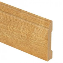 Zamma Natural Oak 9/16 in. Thick x 3-1/4 in. Wide x 94 in. Length Laminate Base Molding-013041757 206054868