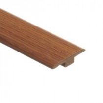 Zamma Saybrook Oak 7/16 in. Thick x 1-3/4 in. Wide x 72 in. Length Laminate T-Molding-013221515 203071641