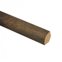 Zamma Tanned Hickory 3/4 in. Thick x 5/8 in. Wide x 94 in. Length Laminate Quarter Round Molding-013141767 205977776