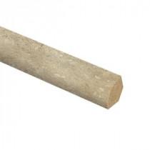 Zamma Vanilla Travertine 5/8 in. Thick x 3/4 in. Wide x 94 in. Length Laminate Quarter Round Molding-013141822 206997228