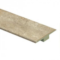 Zamma Vanilla Travertine 7/16 in. Thick x 1-3/4 in. Wide x 72 in. Length Laminate T-Molding-0137221822 206998197