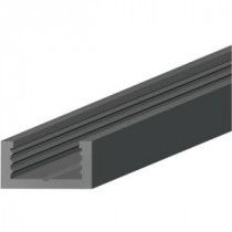 Shaw Black 0.25 in. Thick x 0.56 in. Wide x 96 in. Length Plastic Molding Track-HD31700001 203560502